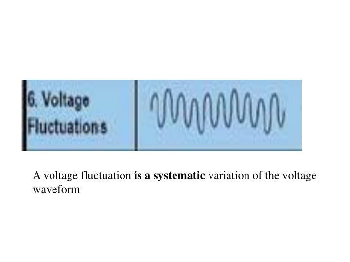 A voltage fluctuation