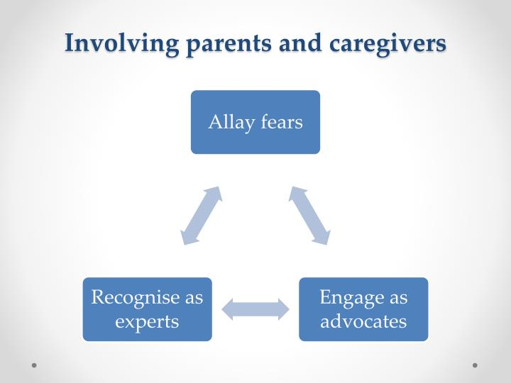 Involving parents and caregivers