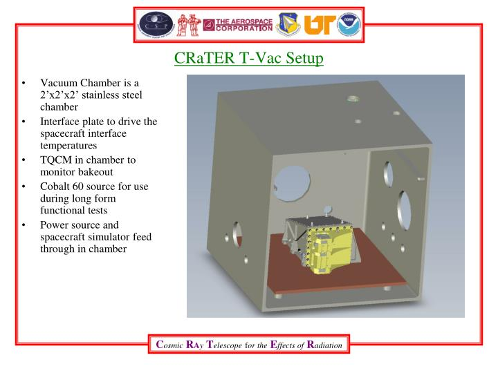 CRaTER T-Vac Setup