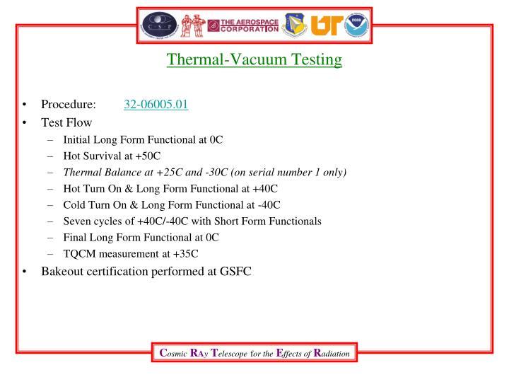 Thermal-Vacuum Testing