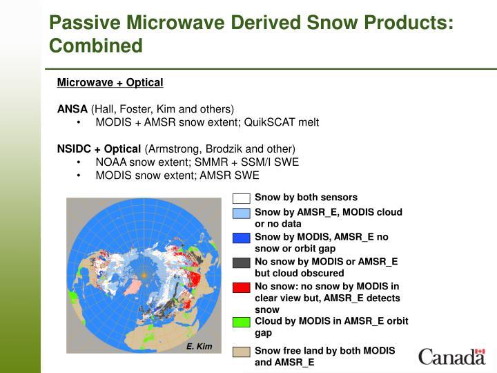 Snow by both sensors