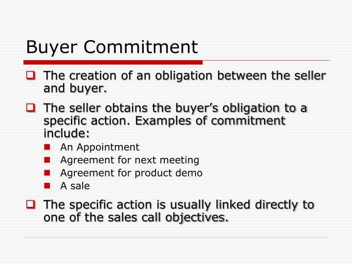 Buyer Commitment