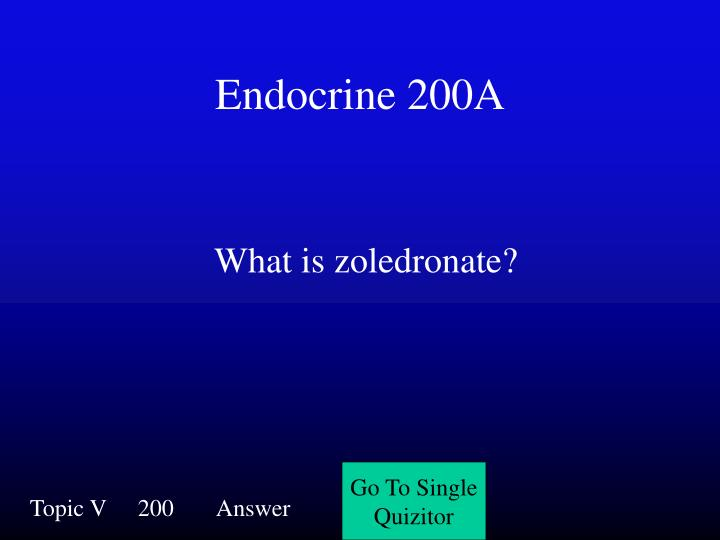 Endocrine 200A