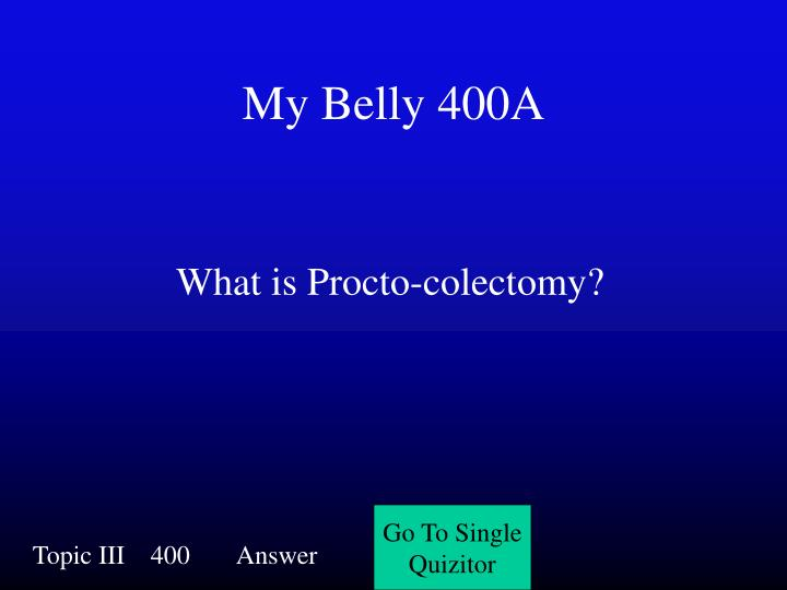 My Belly 400A
