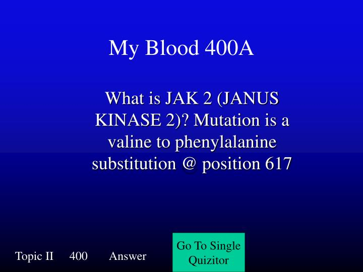 My Blood 400A