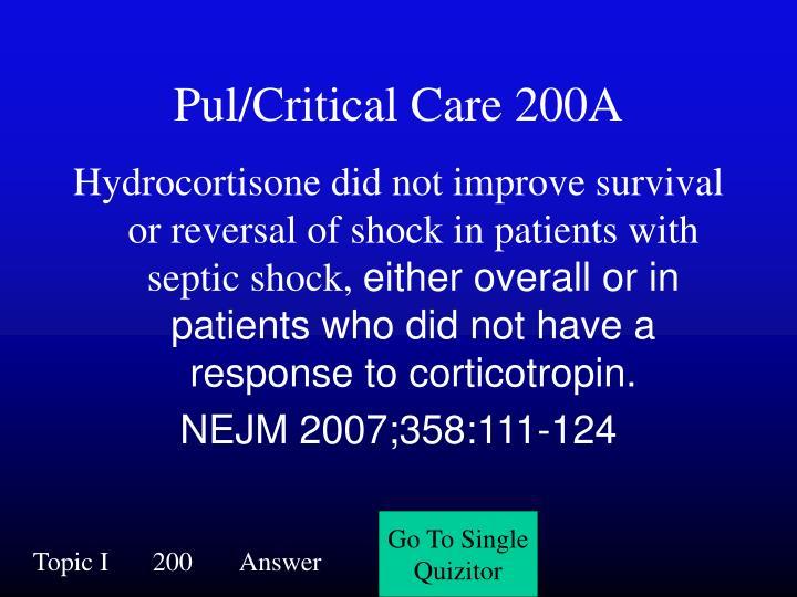 Pul/Critical Care 200A