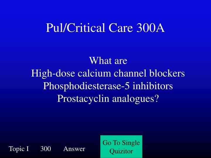 Pul/Critical Care 300A