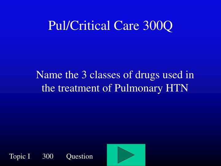 Pul/Critical Care 300Q