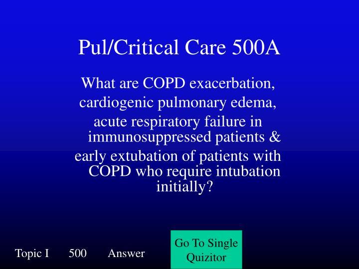 Pul/Critical Care 500A