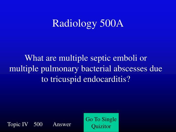Radiology 500A