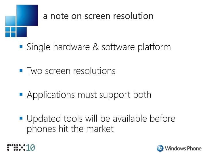 a note on screen resolution