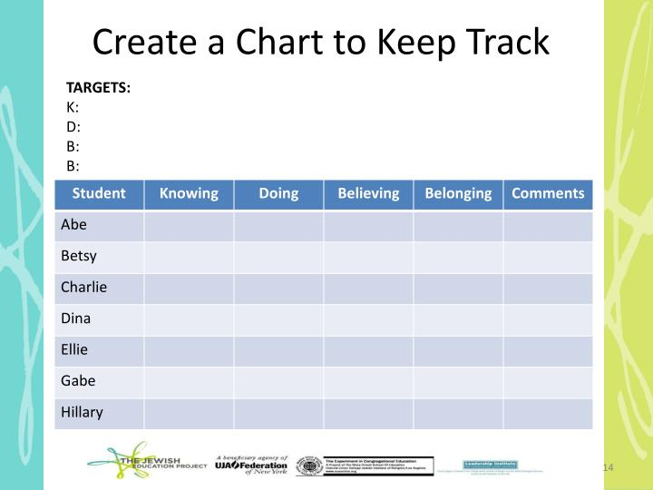 Create a Chart to Keep Track