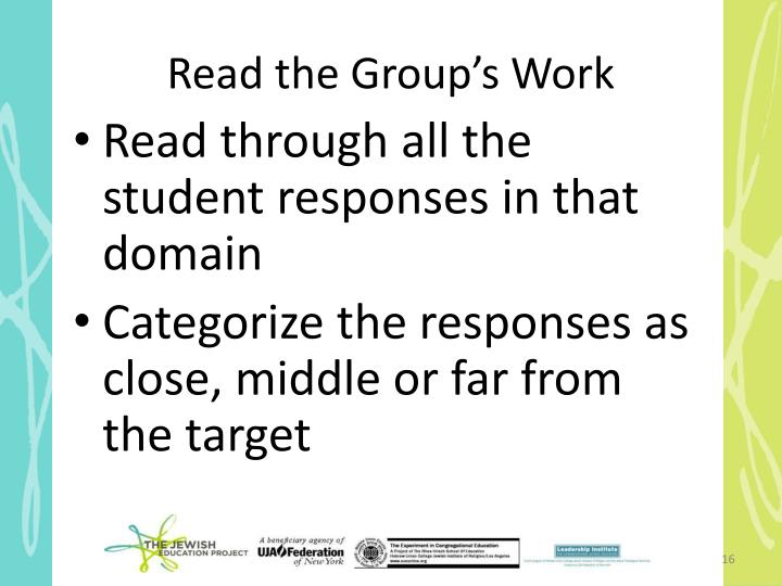 Read the Group's Work