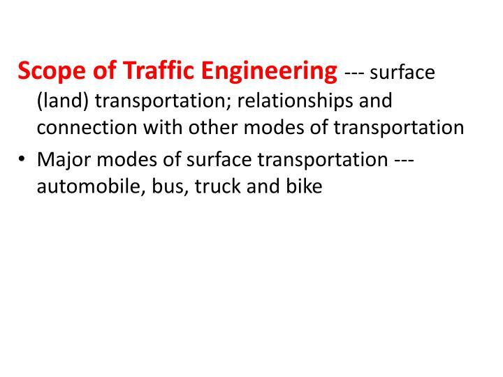 Scope of Traffic Engineering