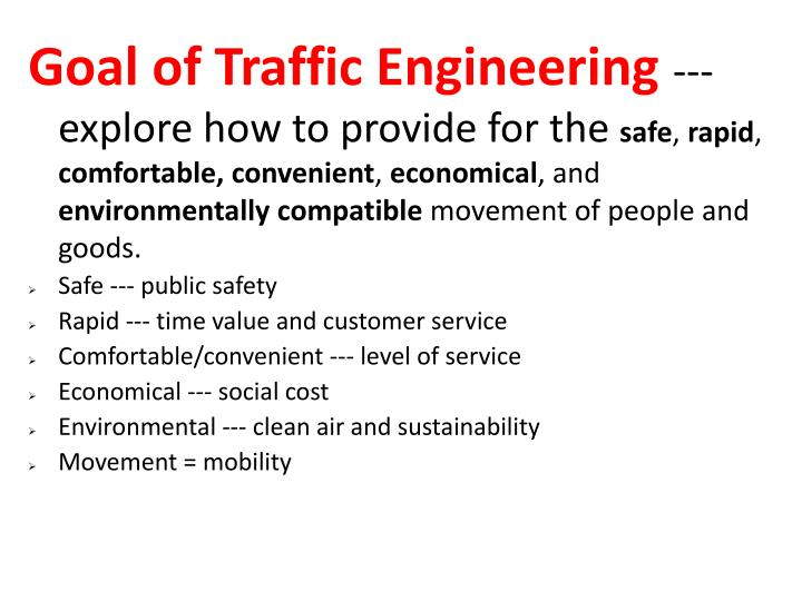 Goal of Traffic Engineering
