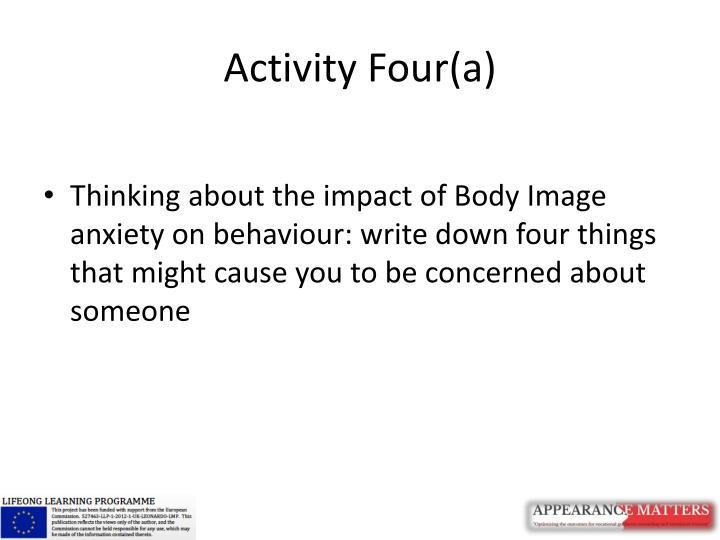 Activity Four(a)