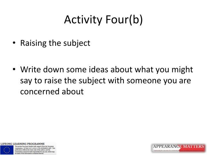 Activity Four(b)