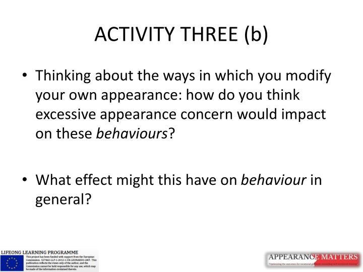 ACTIVITY THREE (b)