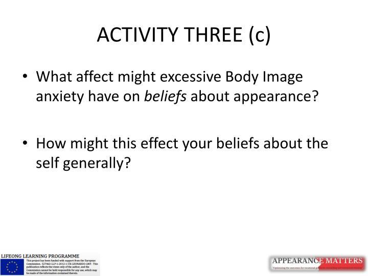 ACTIVITY THREE (c)