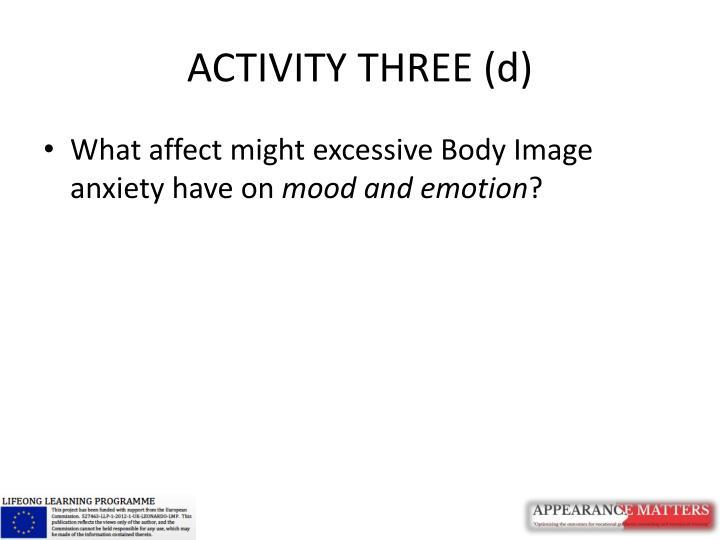 ACTIVITY THREE (d)