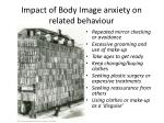 impact of body image anxiety on related behaviour