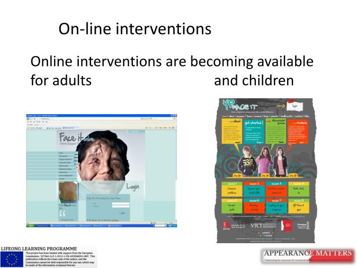 On-line interventions