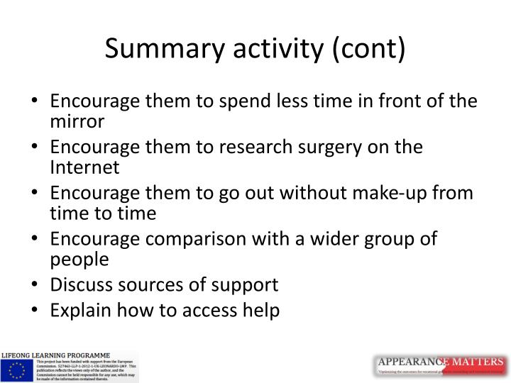 Summary activity (