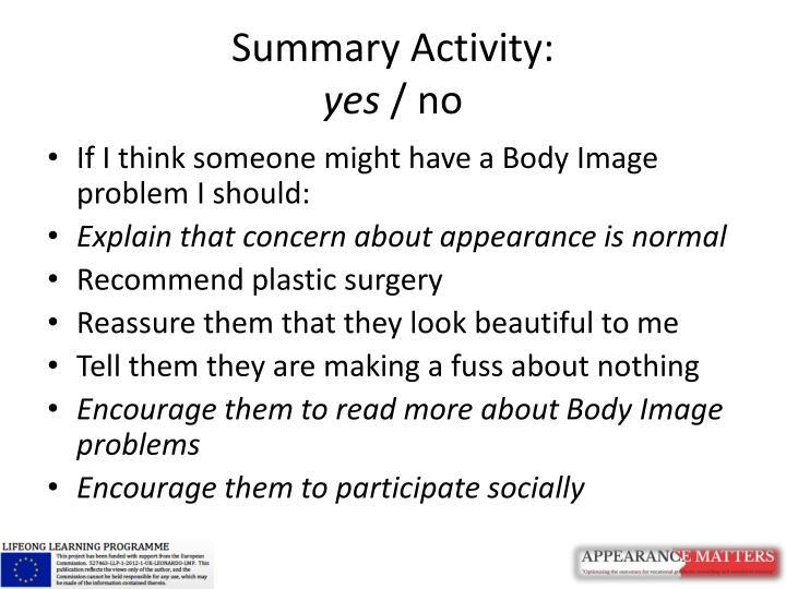 Summary Activity: