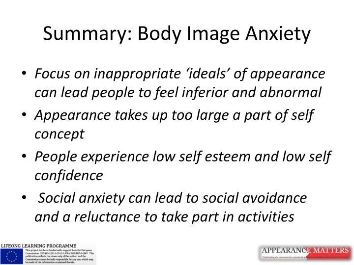 Summary: Body Image Anxiety