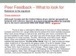 peer feedback what to look for4