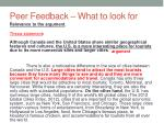 peer feedback what to look for5