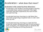 acceleration what does that mean