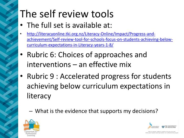 The self review tools