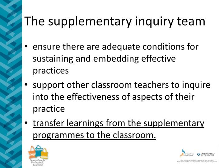 The supplementary inquiry team