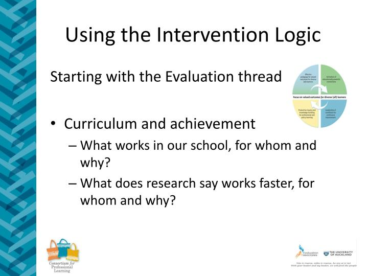 Using the Intervention Logic