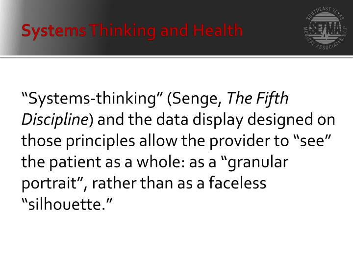 Systems Thinking and Health