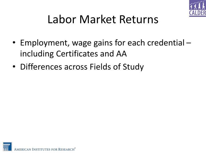 Labor Market Returns