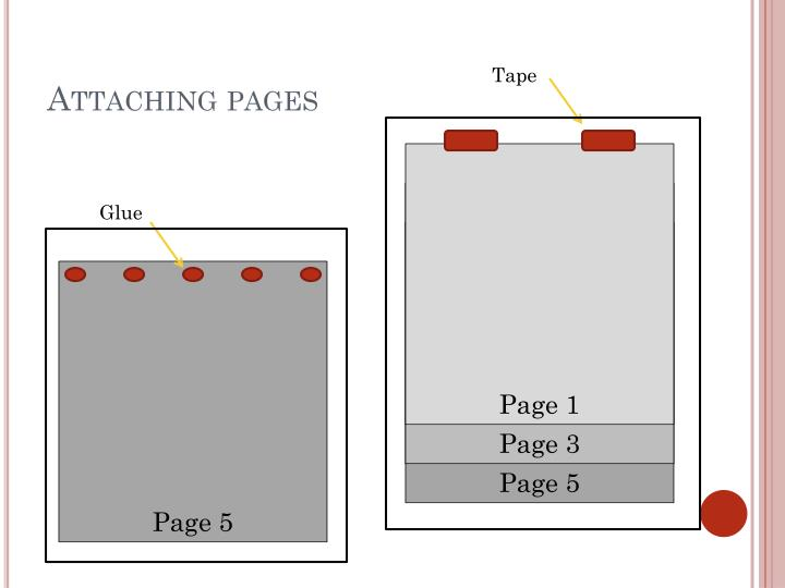 Attaching pages