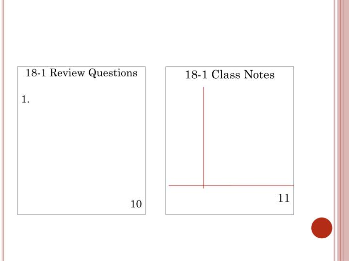 18-1 Review Questions