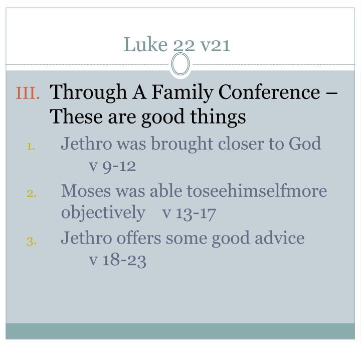 Luke 22 v21