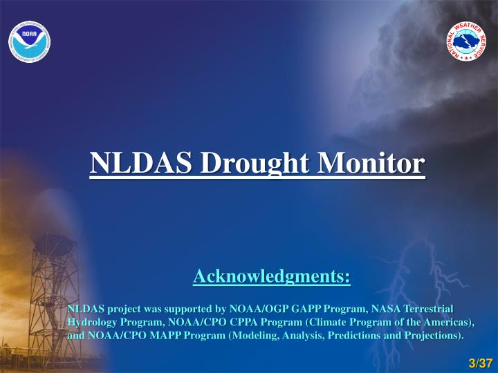 NLDAS Drought Monitor