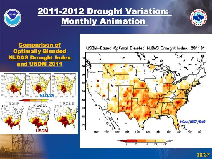 2011-2012 Drought Variation: