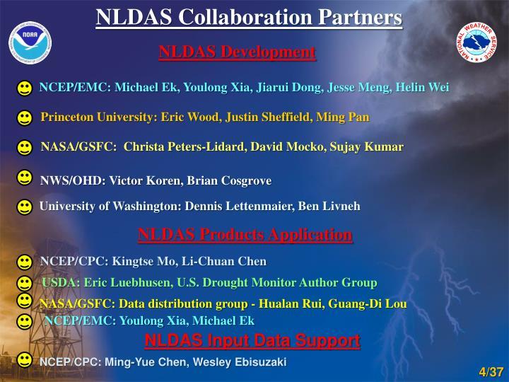 NLDAS Collaboration Partners