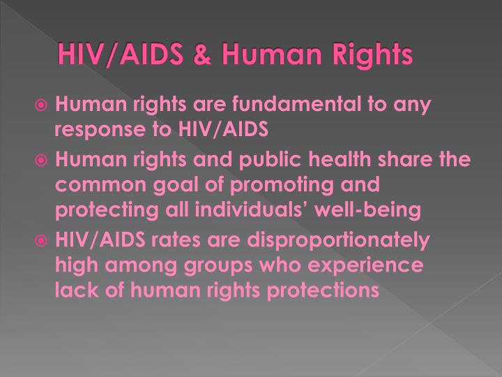 HIV/AIDS & Human Rights