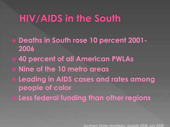 HIV/AIDS in the South