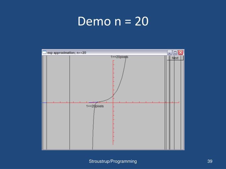 Demo n = 20
