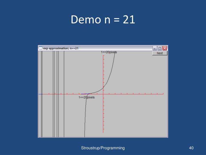 Demo n = 21