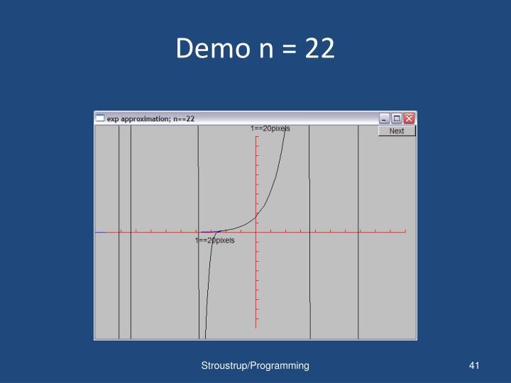 Demo n = 22