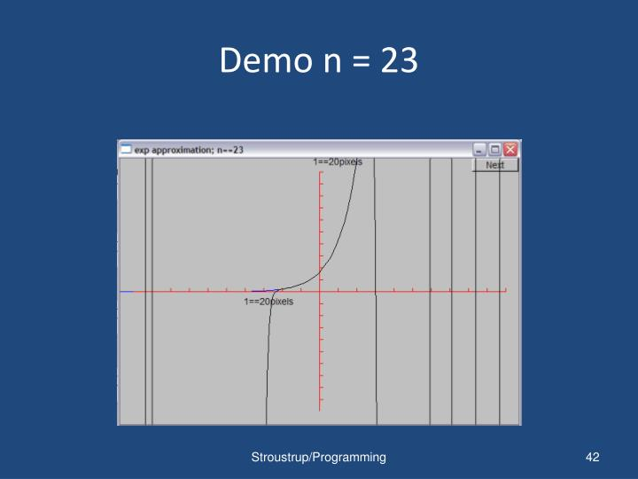 Demo n = 23