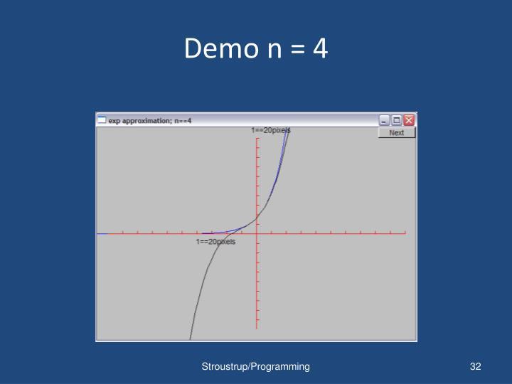 Demo n = 4